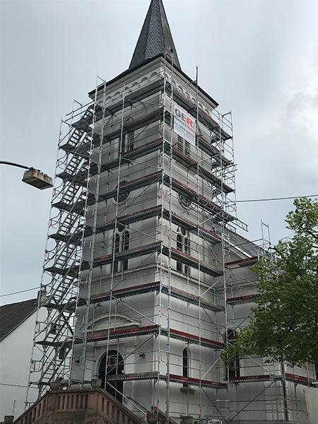 Gerüstbau Saarland, Fassadengerueste, Fassadengerüst,